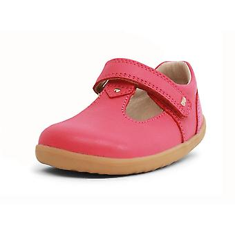 Bobux step up louise strawberry  shimmer t-bar shoes