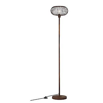 BRILLIANT Lamp Race Floor Lamp 1flg rust-coloured/transparent   1x A60, E27, 60W, suitable for normal lamps (not included)   Scale A++ to E   With foot switch