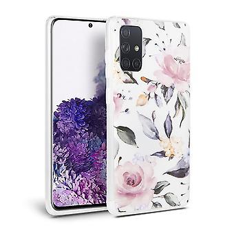 FONU Rozen Backcase Hoesje Samsung Galaxy A51 - Wit