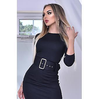 Eliana Black Midaxi Dress - Ladies - Black
