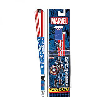 Captain America Red White and Blue Lanyard