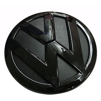 Gloss Black VW Volkswagen Polo 6C Rear Boot Tailgate Badge Emblem 2014-2016 110mm