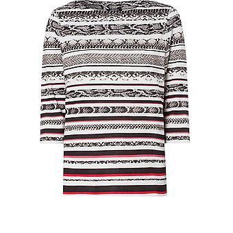 Olsen Striped Animal Print Top