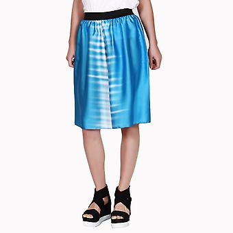 Tag Modest Clothing Women's Charlie Midi Tie Dye Blue Shorts
