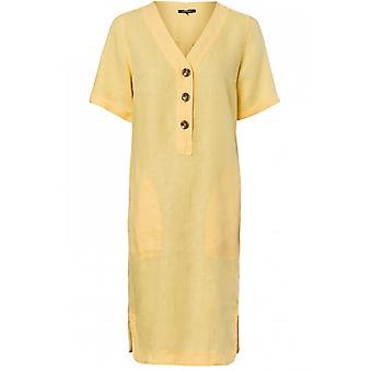 Olsen Yellow Linen Dress