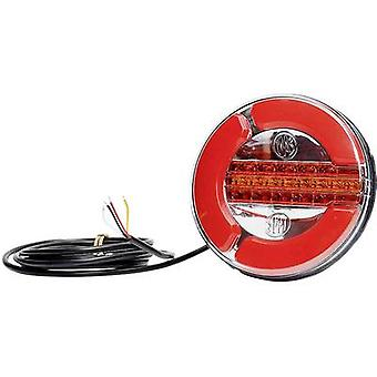 WAS Trailer tail light Open cable ends Tail light, Turn signal, Brake light rear 12 V, 24 V Clear glass