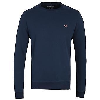 True Religion Metal Horseshoe Navy Sweatshirt