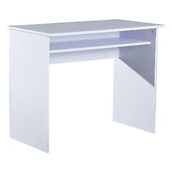 HOMCOM PB Writing Desk Laptop Table Home Office Workstation Learning Center with Drawer 50L x 90W(cm) - White