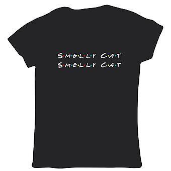 Ildelugtende Kat Kvinders T Shirt-TV-serie Funny Friends Phoebes Song