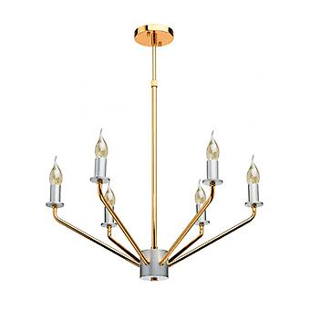 Ceiling Light Golden Loft 6 Bulbs 104 Cm