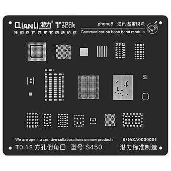 QianLi BGA Stencil Template - Communication Base Band Module - iPhone 8 - S450