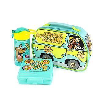 Scooby-Doo Lunchbox Mystery stroj obed taška fľaša a snack pot set