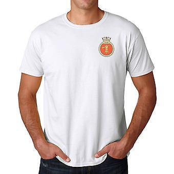 HMS Quorn gestickte Logo - offizielle Royal Marine Baumwoll-T-Shirt