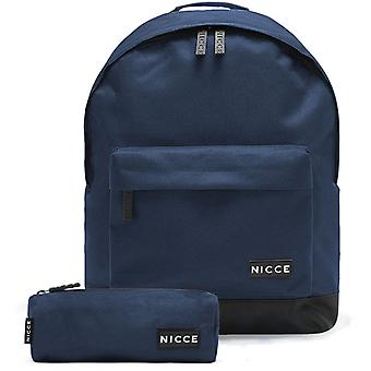 NICCE Raif Backpack Bag And Pencil Case Set Navy 96