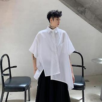 Men Short Sleeve Oversize Loose Casual Shirt