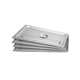 Soga 4X Gastronorm Gn Pan Lid Full Size Stainless Steel Tray Top Cover