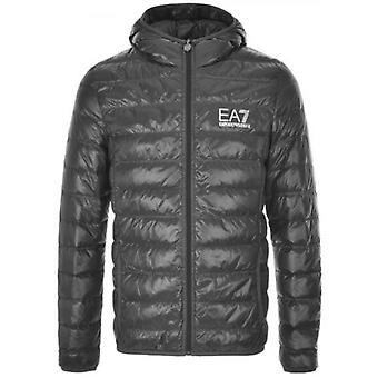 EA7 Grey Down Filled Lightweight Jacket