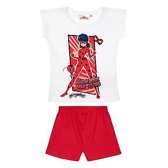 Pyjama à manches courtes miraculeuses de filles de coccinelle