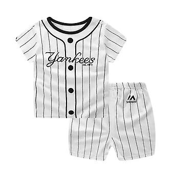 Baby Boy Striped Yankees T-Shirt And Shorts