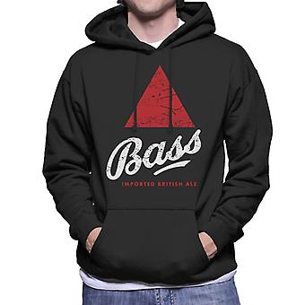 Bass Red Triangle Classic Logo Men's Hooded Sweatshirt