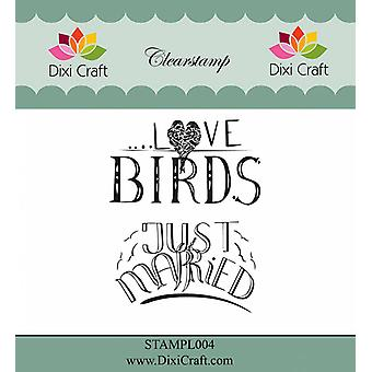 Dixi Craft English Texts Clear Stamps