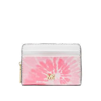 MICHAEL Michael Kors Mott Small Tie Dye Wallet Shell Pink