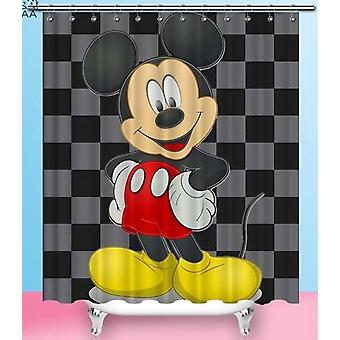 Mickey Mouse Club House Waterproof Polyester Fabric Bathroom Shower Curtains