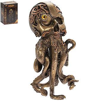 Steam Punk Octopus Bronzed Figure Ornament