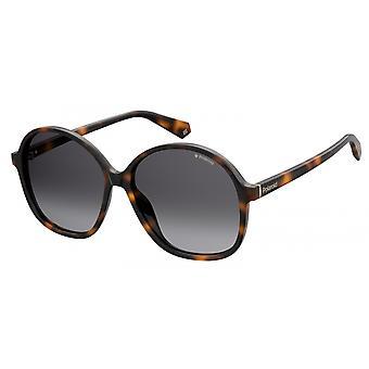 Sonnenbrille Damen  6094/S086/LA   rund dunkelbraun/braun