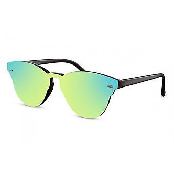 Okulary przeciwsłoneczne Unisex Panto Cat.3 czarny/zielony (CWI2211)