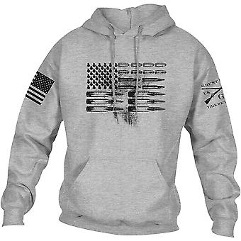 Grunt Style Ammo Flag Pullover Hoodie - Sport Gray