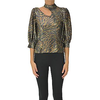 Ganni Ezgl419007 Dames's Multicolor Polyester Top