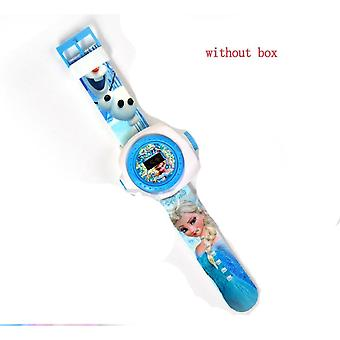 Lasten kellot Disney Frozen-Lapsi Ranne Watch Projection Cartoon Pattern Digita Watch Girls Lahja Pojat Party Lelut