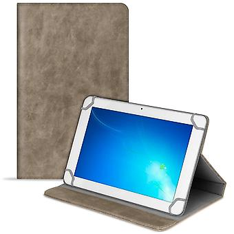 Tablet Case Protection for Universal 8 Zoll Leatherette Etui Hard Tablet Beige
