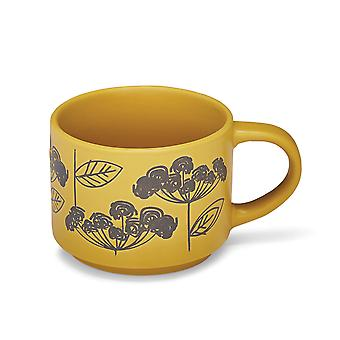 Cooksmart Retro Meadow Stacking Mug, Yellow