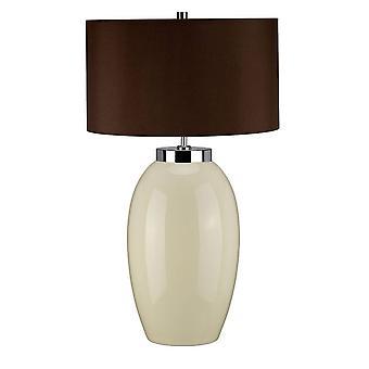 Elstead Victor - 1 lampe de grande table légère - Crème, E27