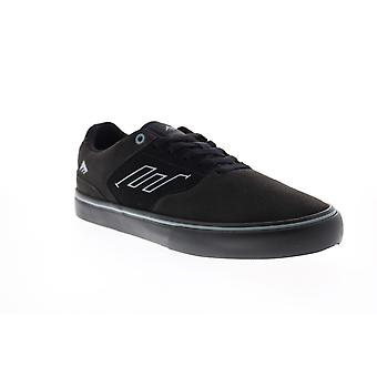Emerica Low Vulc Mens Black Suede Lace Up Skate Sneakers Shoes