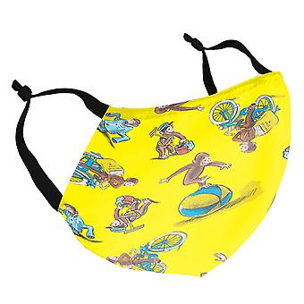 Curious George Yellow Pattern Adult Reusable Fabric Face Mask