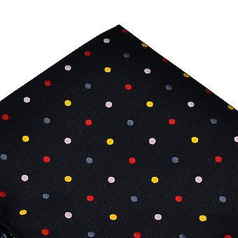 Ties Planet Navy Blue & Multi Coloured Polka Dot Pocket Square Handkerchief