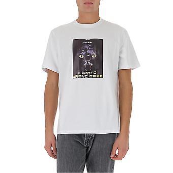 Msgm 2940mm20620759801 Herren's weiße Baumwolle T-shirt