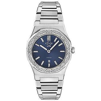 Gv2 By Gevril Women's 12703 Palmanova Diamond Stainless Steel Date Swiss Watch