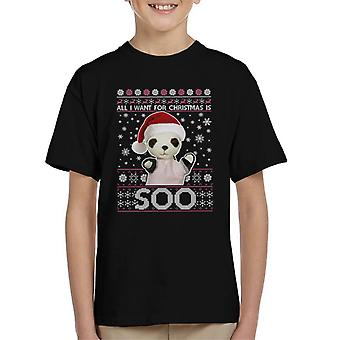 Noe Joulu Juhlahattu Kaikki mitä haluan jouluksi on niin Kid's T-paita
