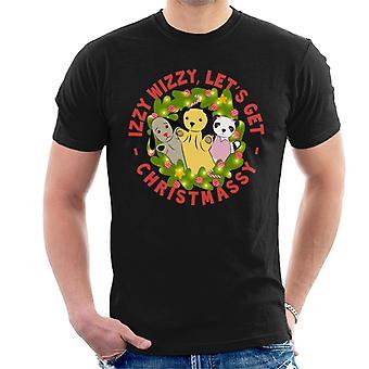 Noki joulu valaistu seppele Izzy Wizzy Lets Get Chrismassy Men's T-paita