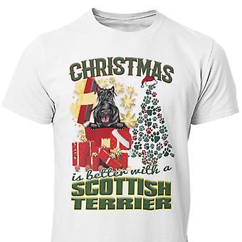 Scottish Terrier Navidad camiseta pug