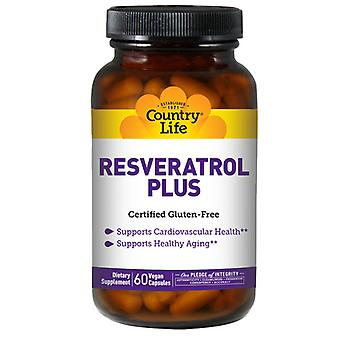Country Life Resveratrol Plus, 60 korkkia
