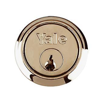 Yale YALP1109PB P1109 Replacement Rim Cylinder 2 Keys Brass Visi
