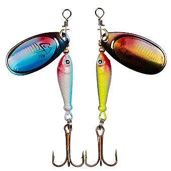 Lushazer Fishing Spinner Bait- 9g Spoon Lure Metal Baits, Treble Hook Isca