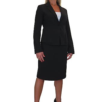 Women's Smart 2 Piece Business Blazer Jacket Skirt Suit Fully Lined Washable Buisness Office 10-22