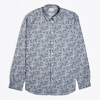 PS Paul Smith  - Mountain Peaks Print Shirt - Light Blue