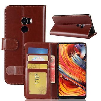 Voor Xiaomi Mi Mix 2 Crazy Horse Texture Horizontale Flip Lederen Case met houder en Kaartsleuven en - Portemonnee en portemonnee Fotolijst (Bruin)